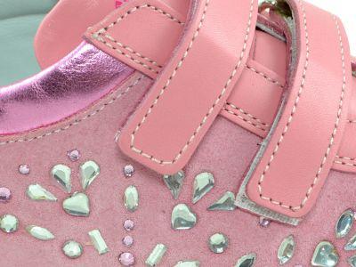 Полуботинки Minimen розовые праздничные