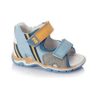 сандалии minimen голубой коричневый летние