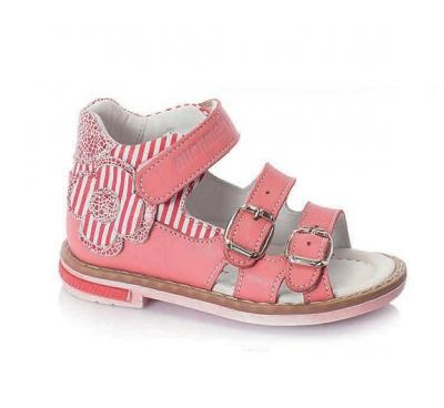 сандалии минимен для девочки розовые