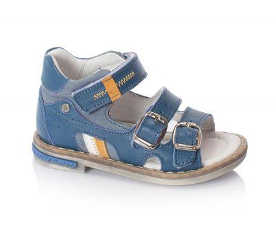 сандалии minimen мальчик туфли натуральная кожа синие