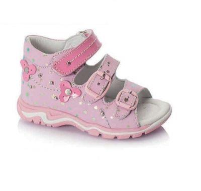 сандалии Minimen для девочки розовые детский сад